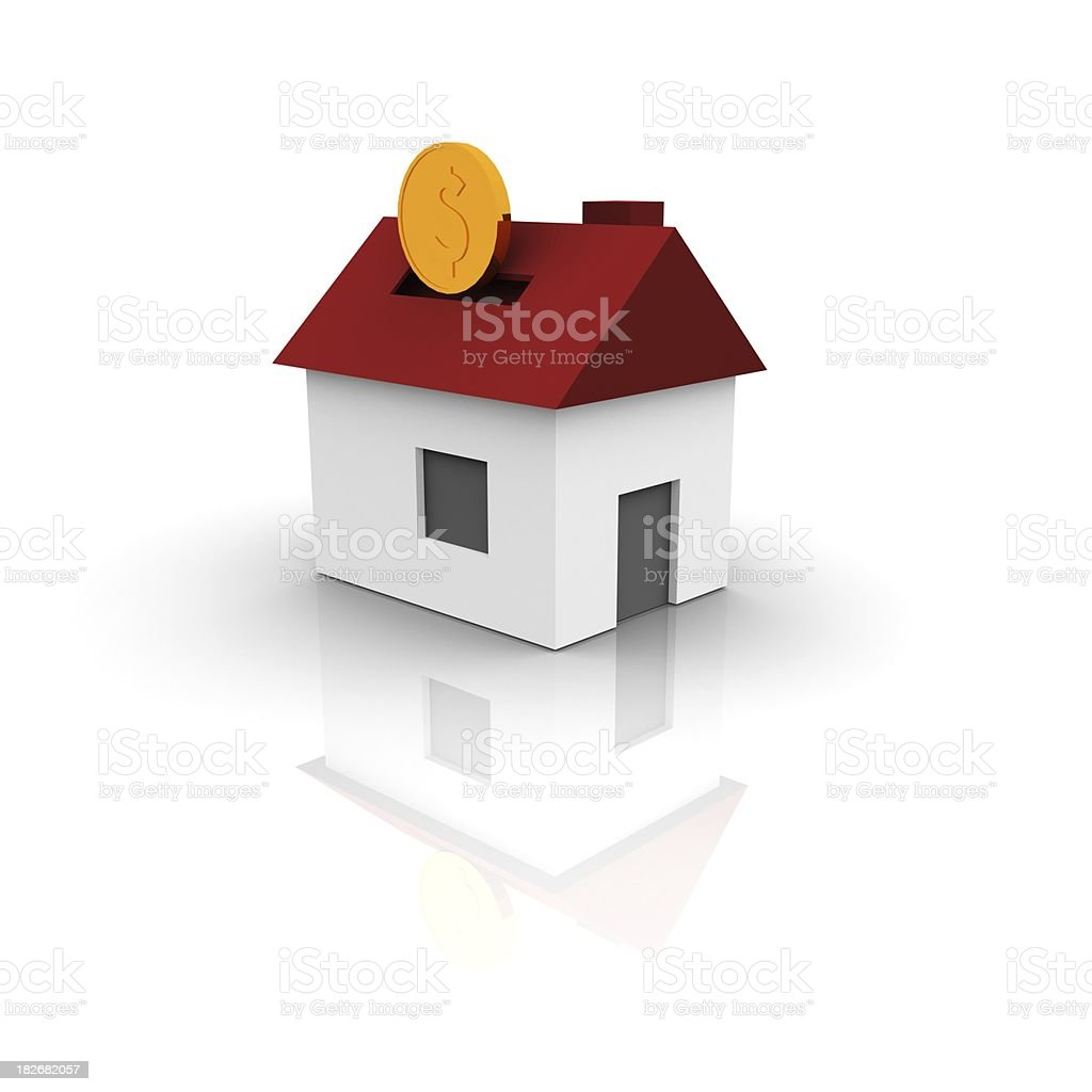 House - money pit royalty-free stock photo