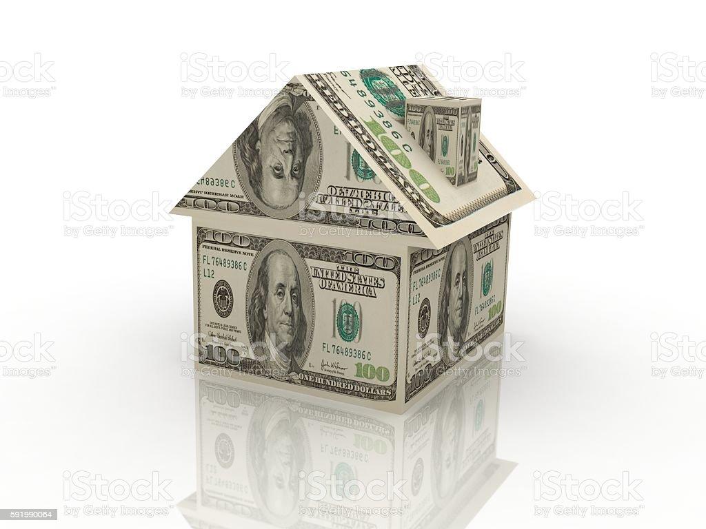 House money real estate mortgage bank dollar concept stock photo