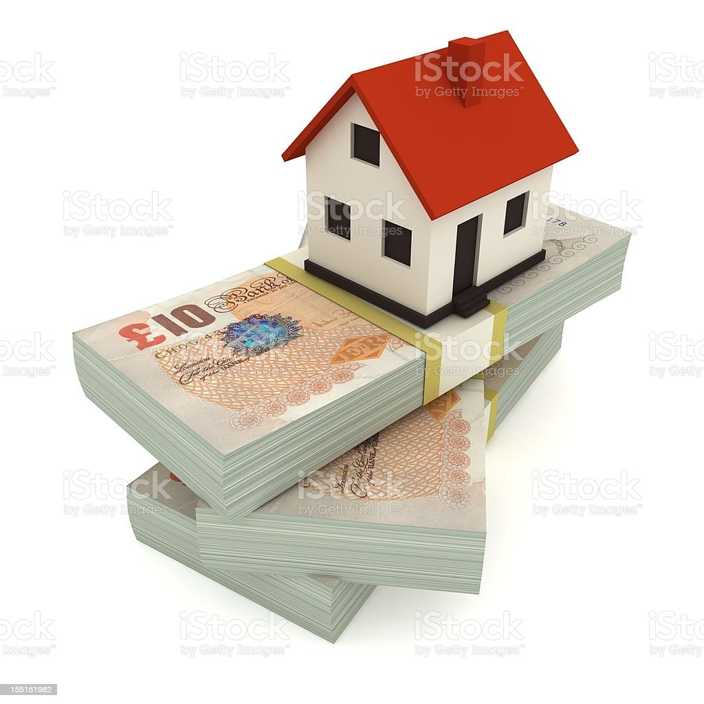 House Mortgage - Pound royalty-free stock photo