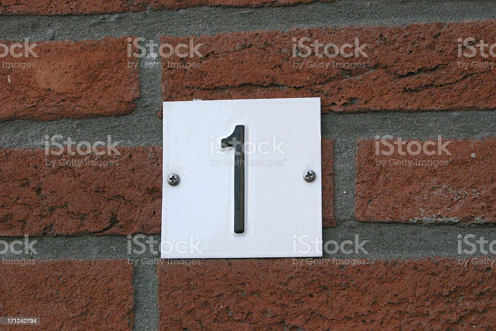 House nr 1 royalty-free stock photo