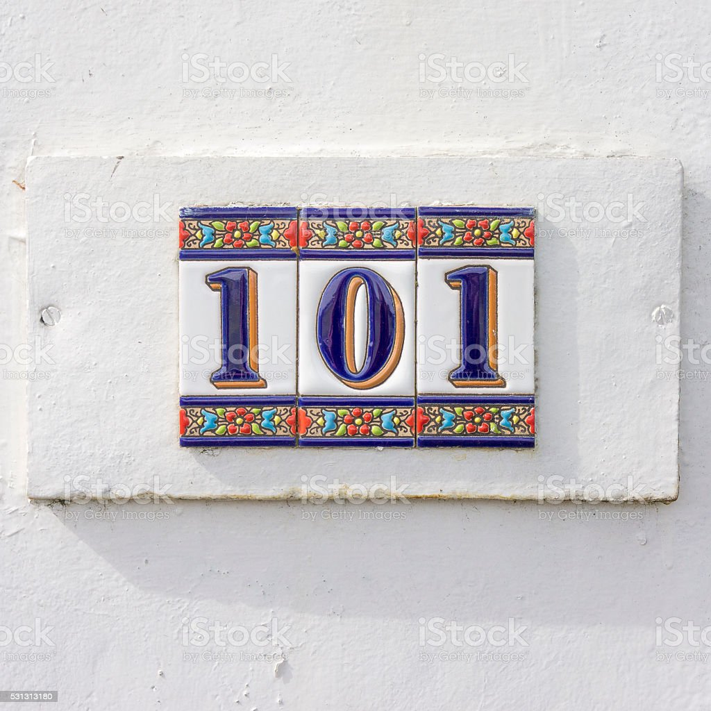 House number 101 stock photo