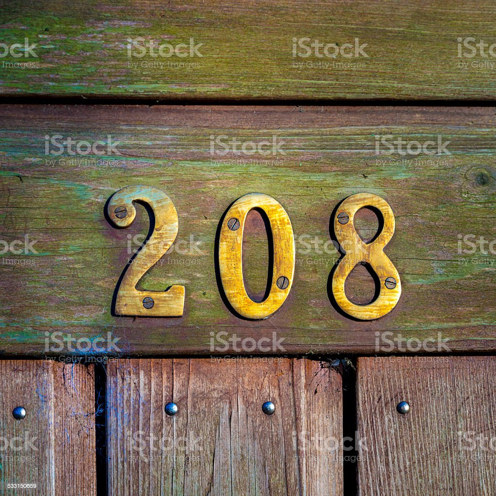 house number 208 stock photo
