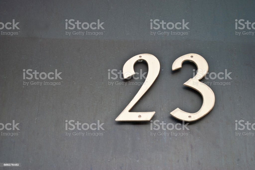 House number 23 stock photo