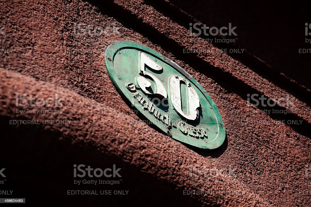 House number 50 stock photo