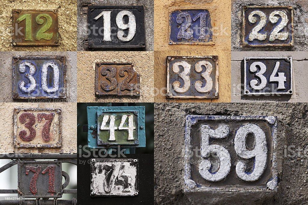 House number stock photo