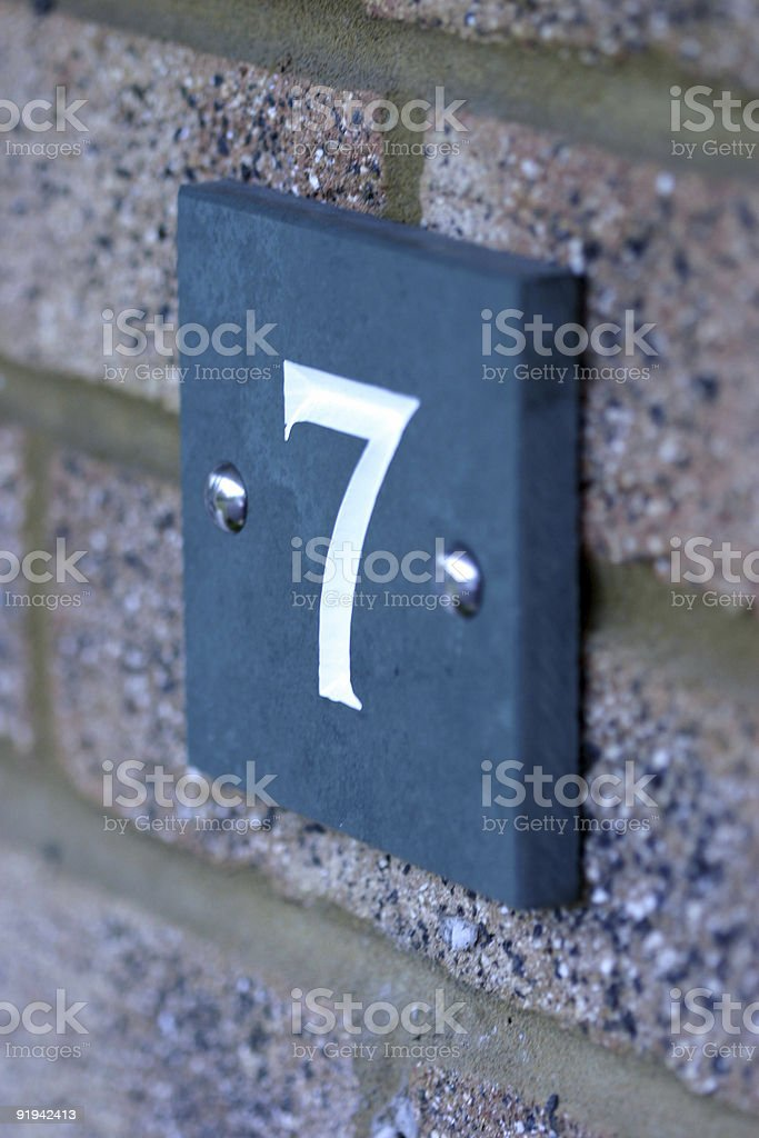 house number royalty-free stock photo