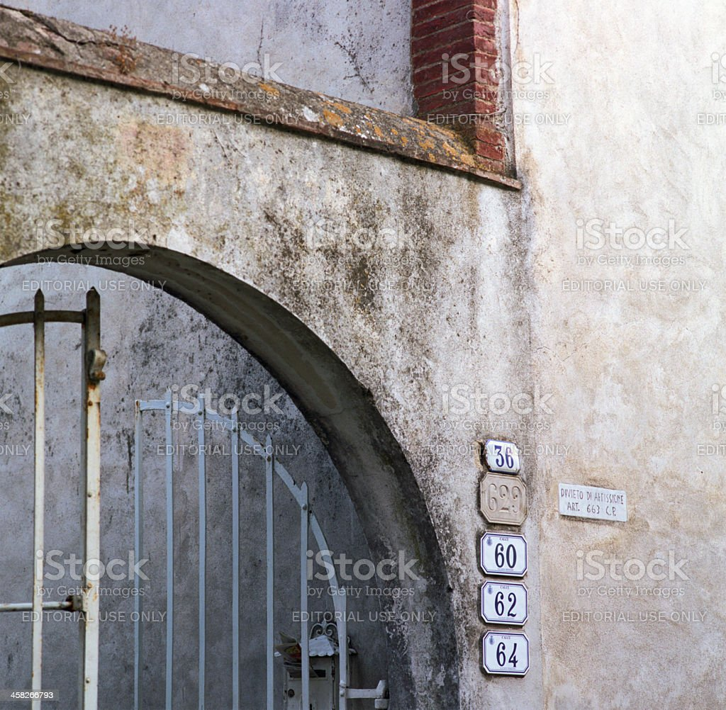 House numbering confusion royalty-free stock photo