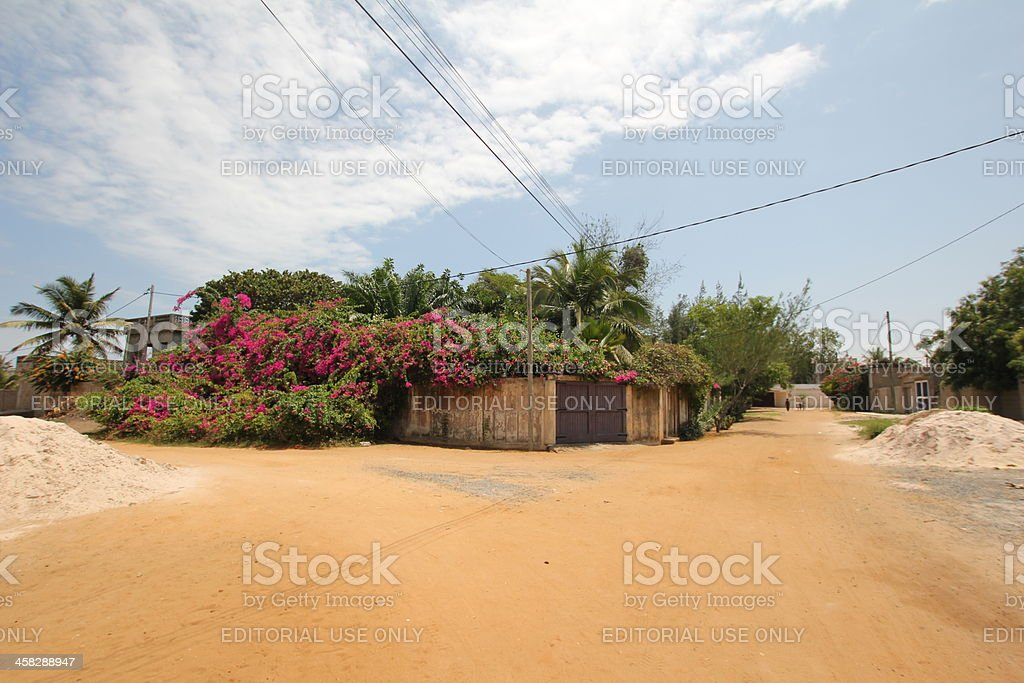 House of a wealthy person in rural Africa stock photo