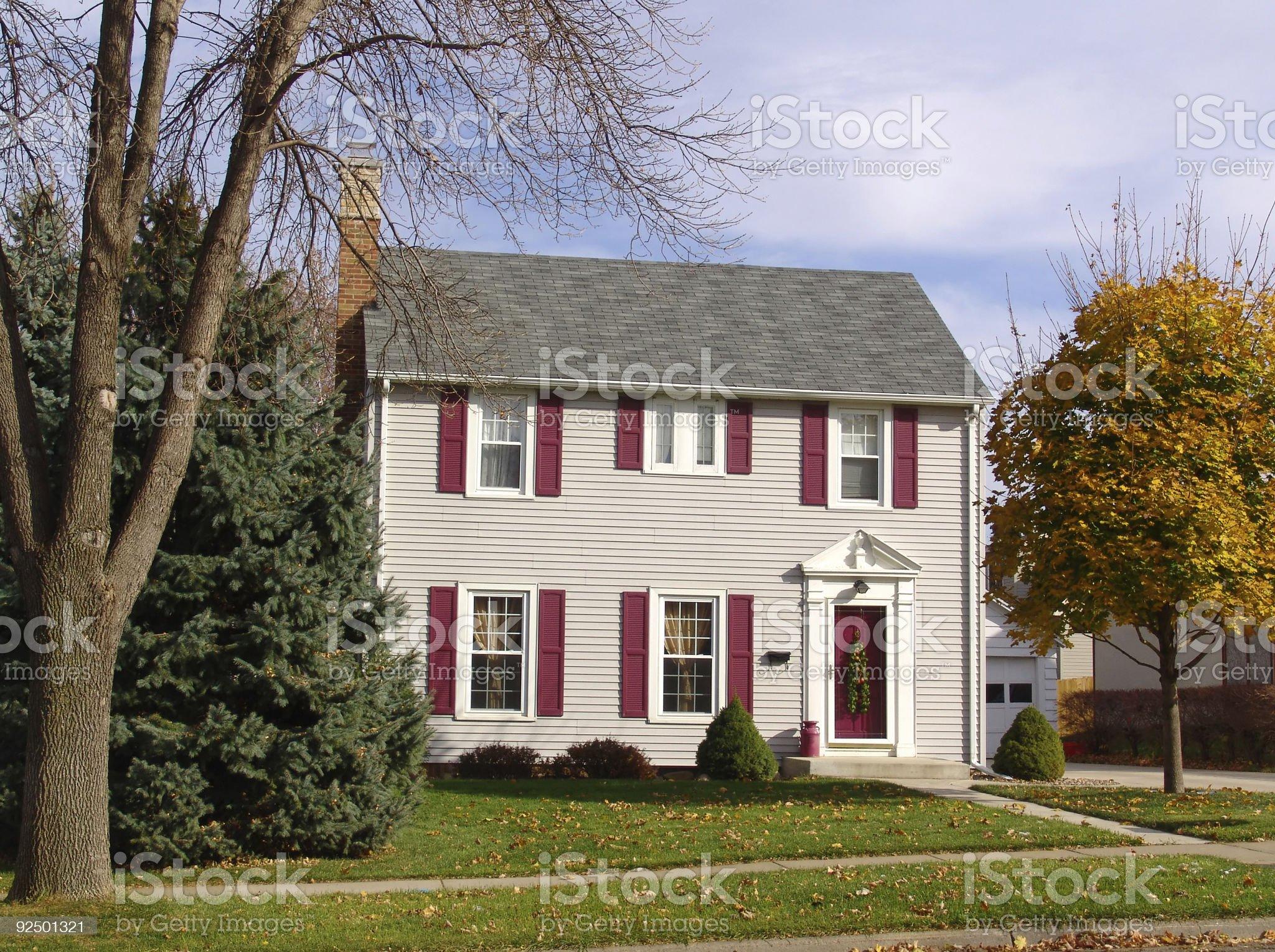 House of Autumn royalty-free stock photo