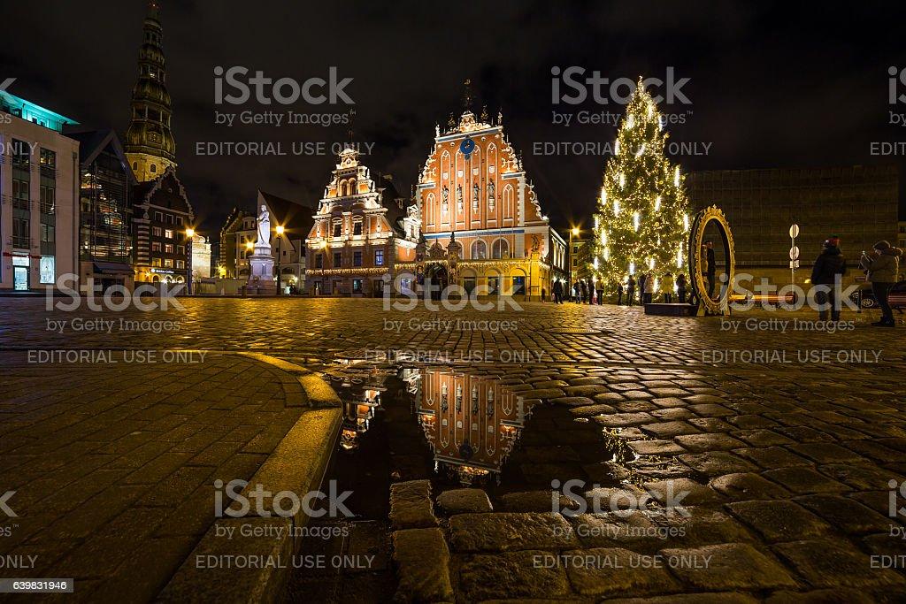 House of Blackheads at Christmas stock photo