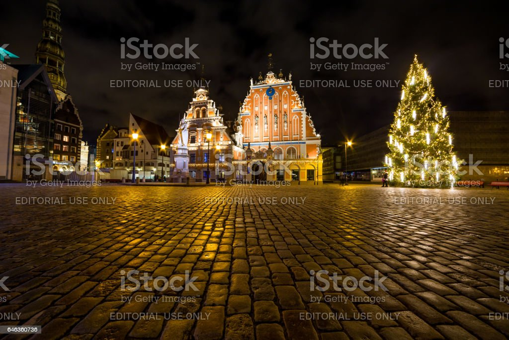House of Blackheads at Christmas stock photo