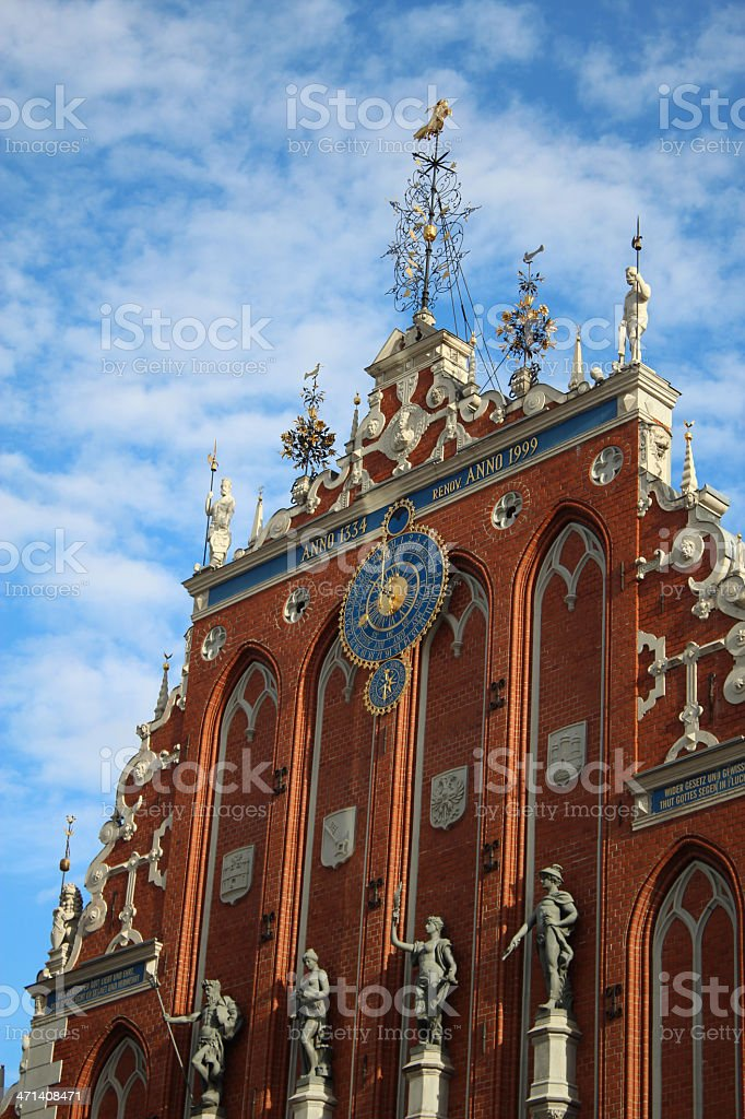 House of Blackheads in Riga stock photo