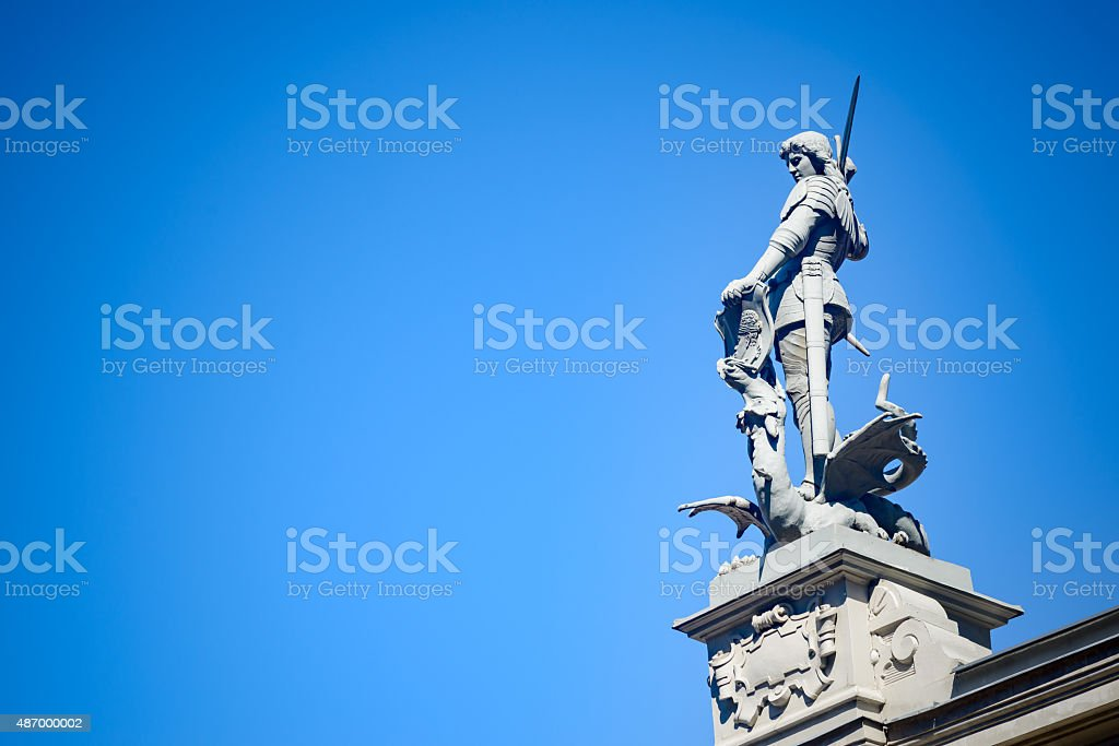 House of Blackheads Statue stock photo