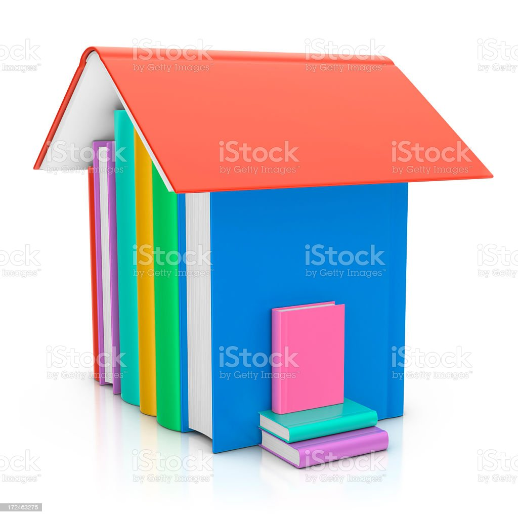 House of Books royalty-free stock photo