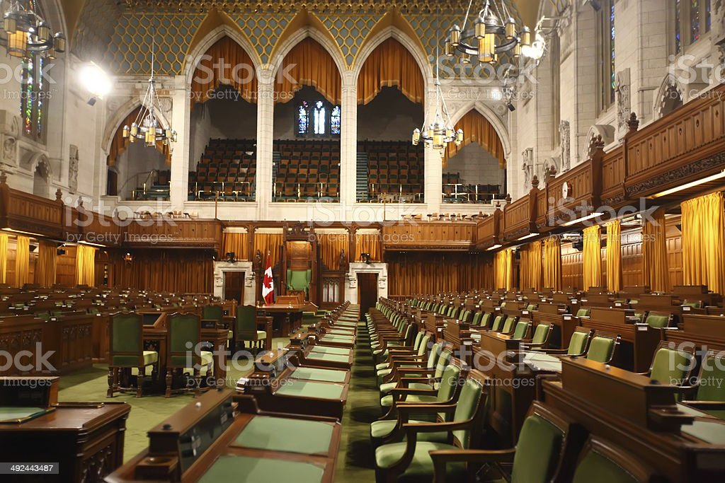 House of Commons of Canada stock photo