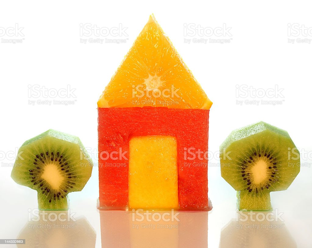 house of fruits royalty-free stock photo