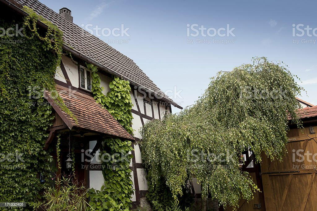 House of half timbered wood in Germany stock photo