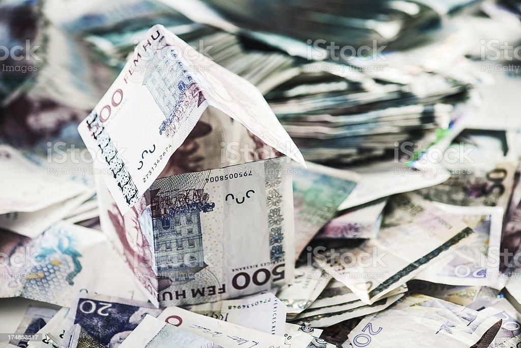 House of money royalty-free stock photo