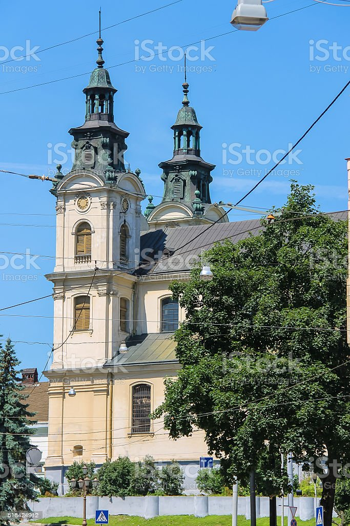 House of Organ and Chamber Music . Lviv, Ukraine stock photo
