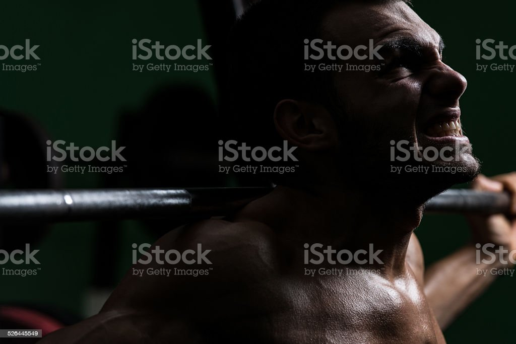 House of Pain - Barbell Squat stock photo