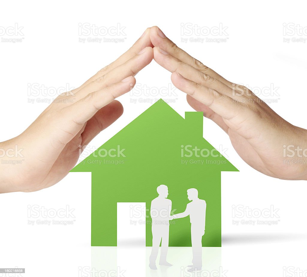 house of paper in hand royalty-free stock photo