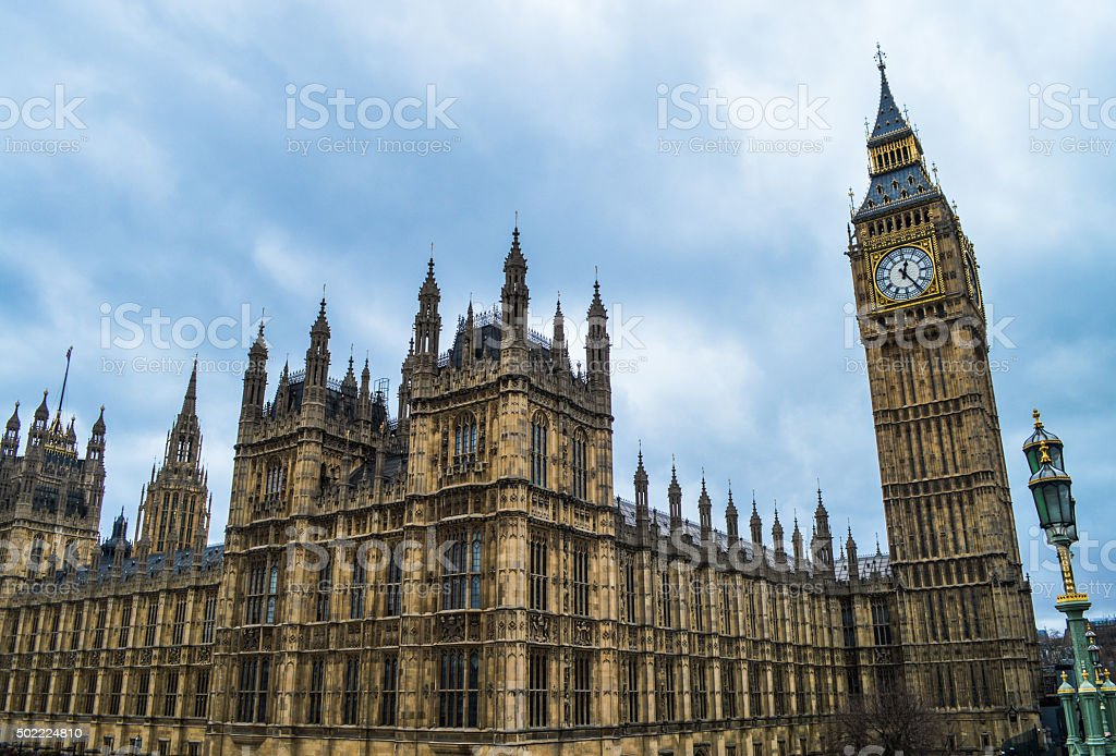 House of Parliament and Big Ben - London, UK stock photo