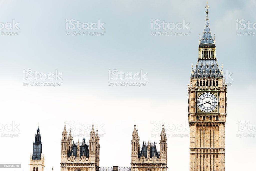 House of parliament and big ben stock photo