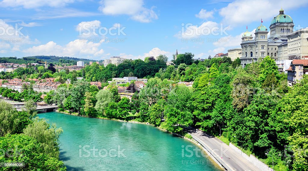 House of parliaments, Bern stock photo