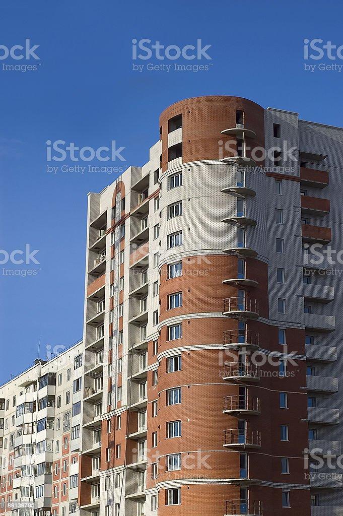 Maison de briques rouges et blancs photo libre de droits