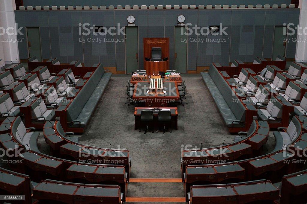 House of Representatives - Canberra stock photo