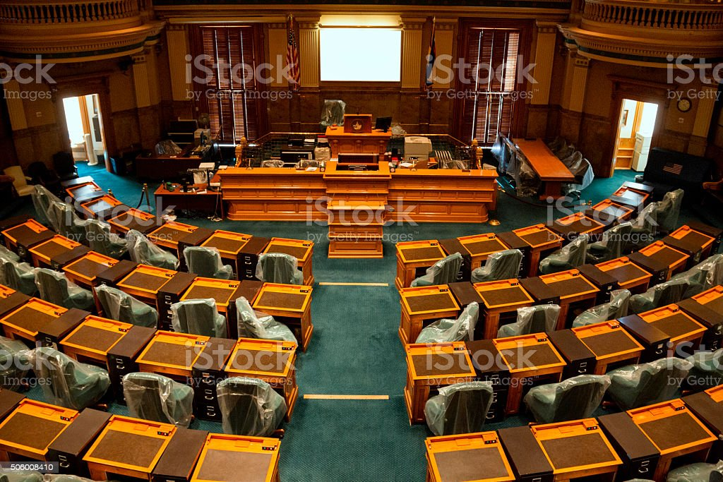 House of Representatives Chamber Colorado State Capitol stock photo
