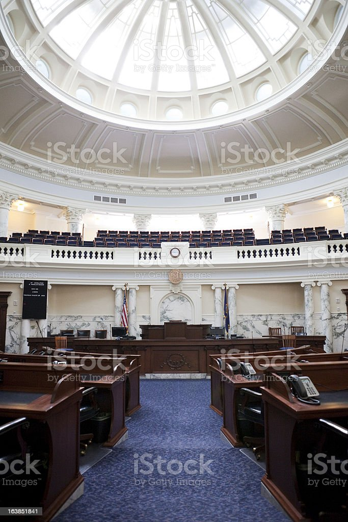 House of Representatives Chamber Idaho State Capitol stock photo