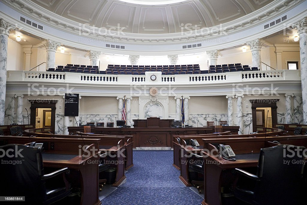 House of Representatives Chamber Idaho State Capitol royalty-free stock photo