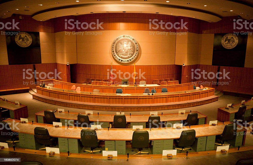 House of Representatives Chamber New Mexico State Capitol stock photo