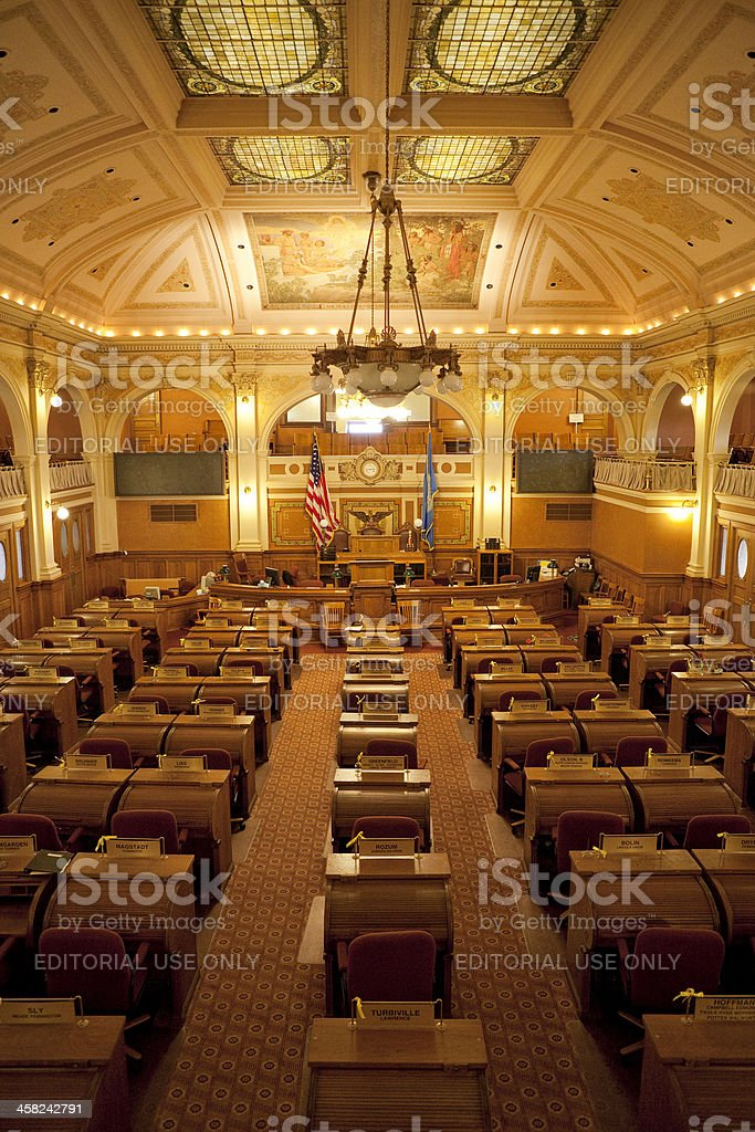 House of Representatives Chamber South Dakota State Capitol stock photo