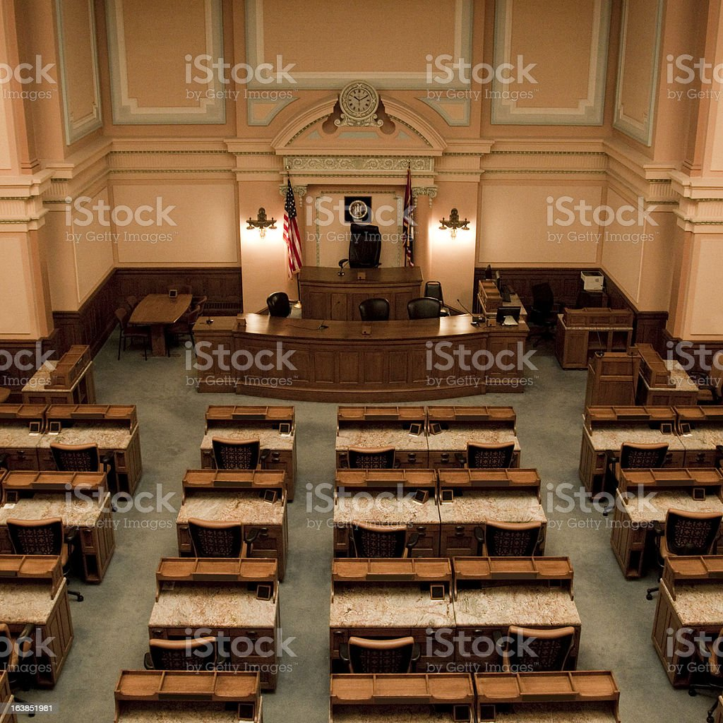 House of Representatives Chamber Wyoming State Capitol royalty-free stock photo