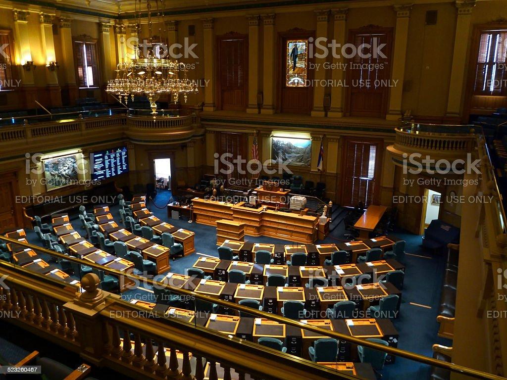 House of Representatives Colorado State Capitol Denver stock photo