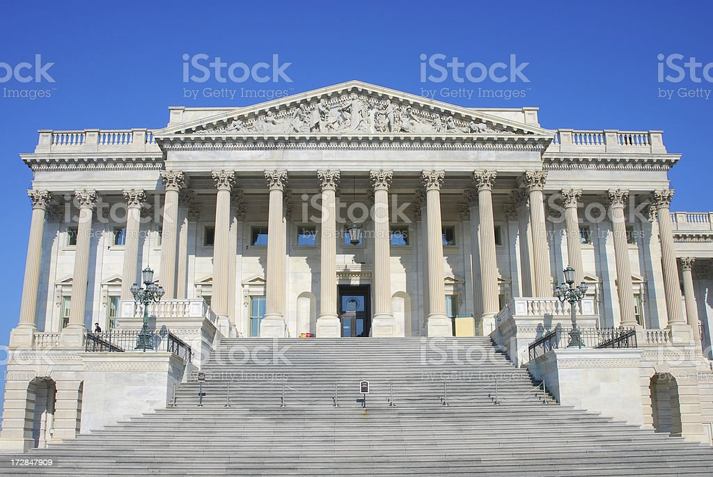 US House of Representatives royalty-free stock photo