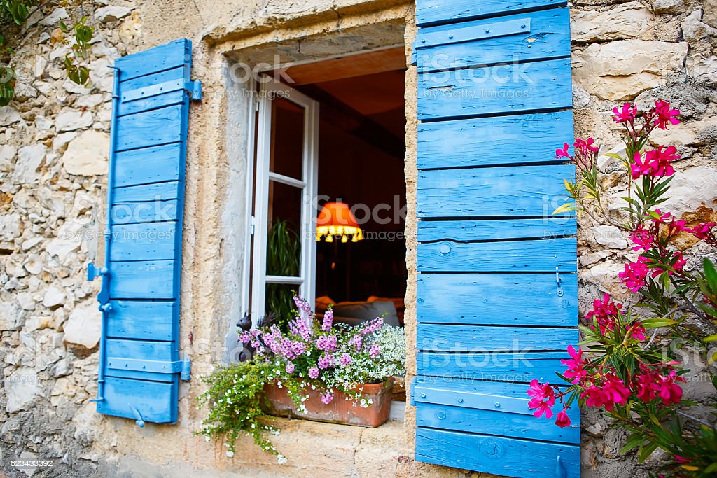 House of small typical town in Provence, France stock photo