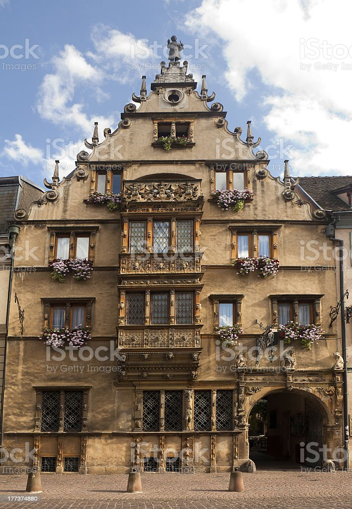 Maison des Tetes in Colmar stock photo