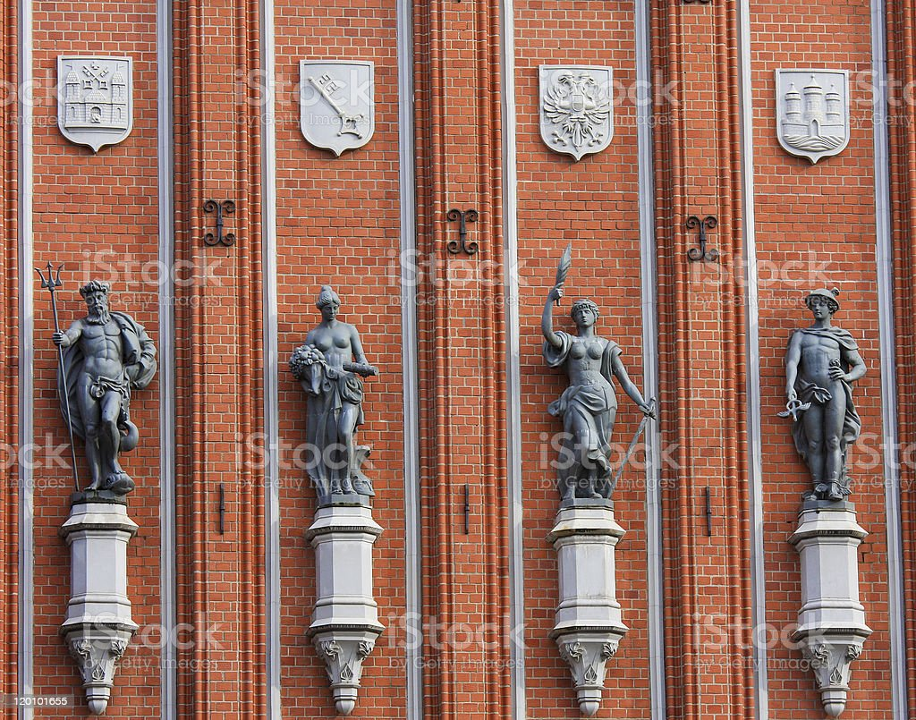 House of the Blackheads in Riga royalty-free stock photo