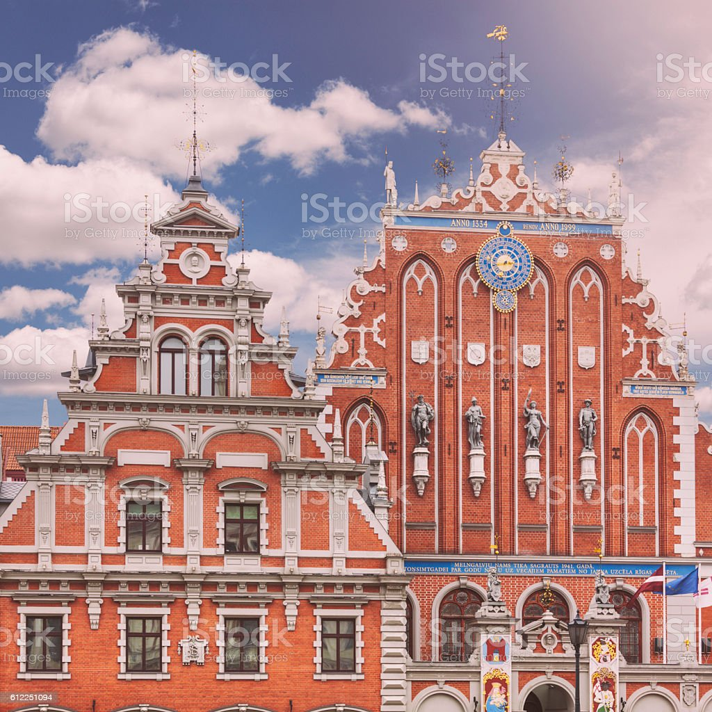House of the Blackheads, Riga stock photo