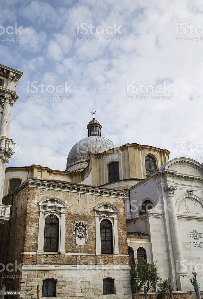 House of the Dead by Venice Church royalty-free stock photo