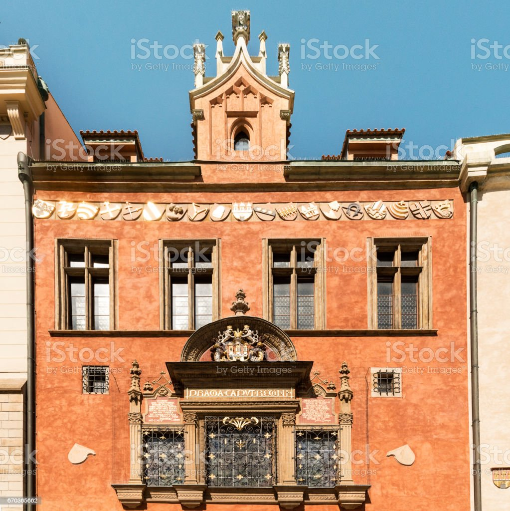 House of the Furrier-Mikes in Prague stock photo