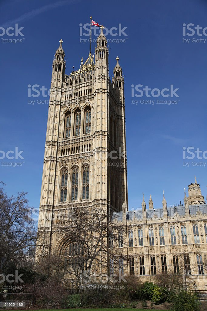 house of the lords tower stock photo