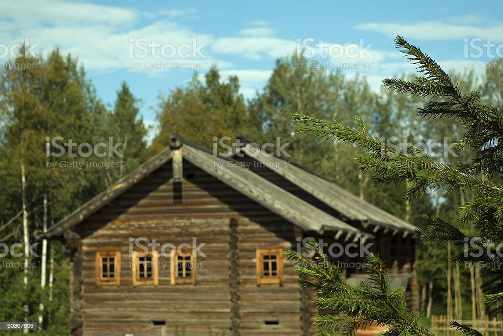 house of the peasant royalty-free stock photo