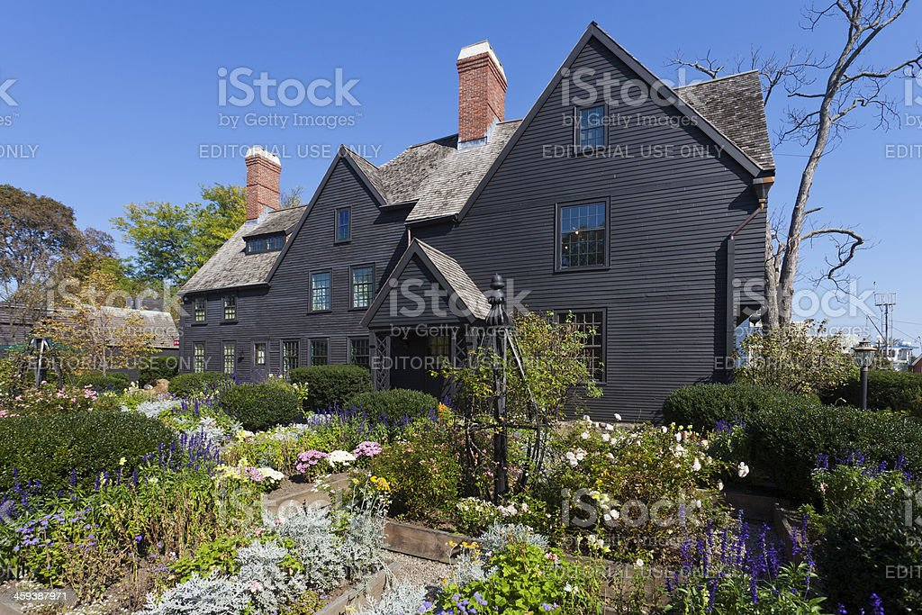 House of the Seven Gables stock photo