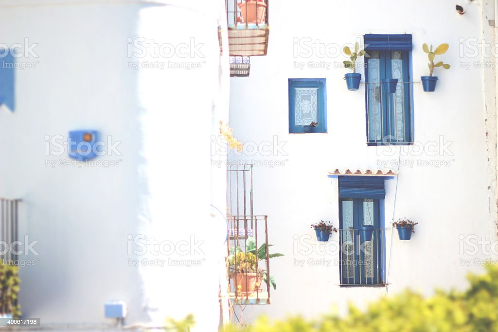 House of town white | Casa de pueblo blanca stock photo