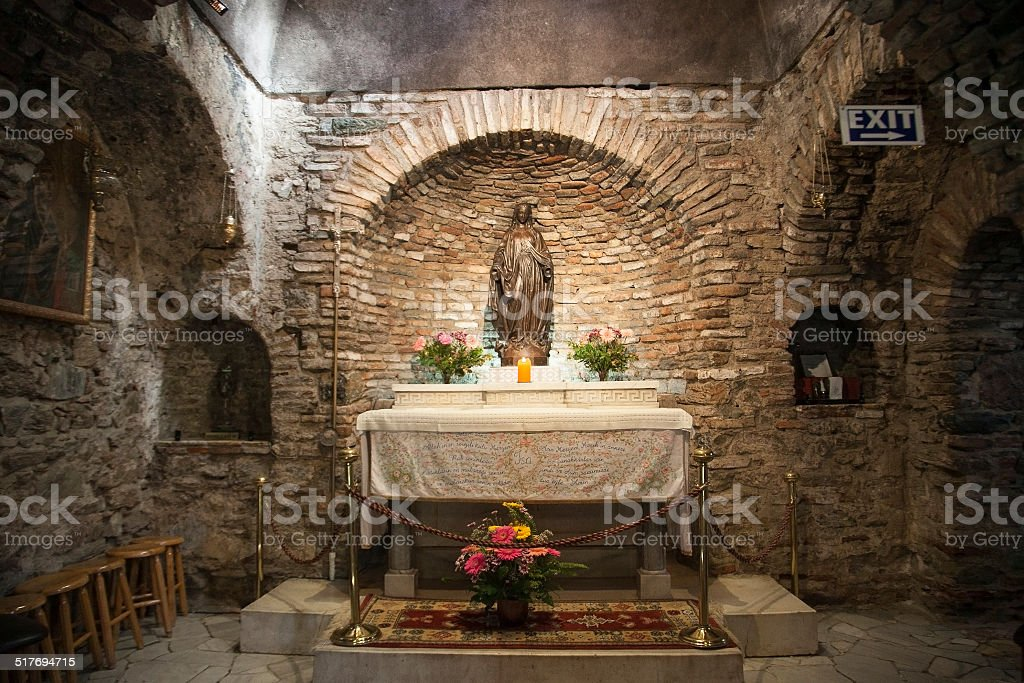 House of Virgin Mary in Ephesos,Turkey stock photo