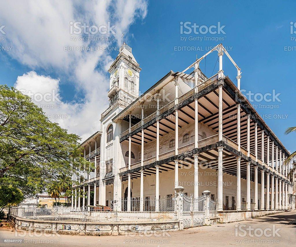 House of Wonders National Museum in Stone Town,Zanzibar, Tanzania stock photo